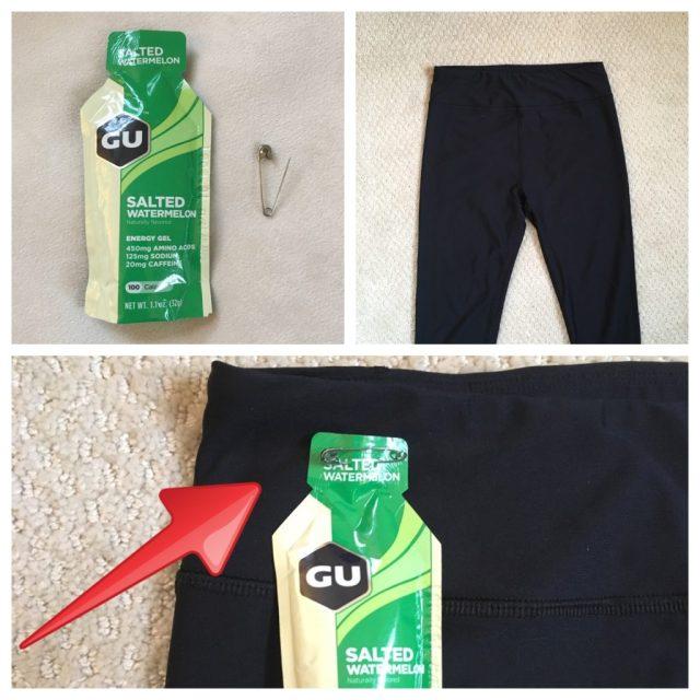 Running Hacks Revealed - Pin Gels to Pants
