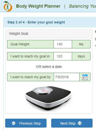 Running for Weight Loss - Weight Loss Calculator - Step 2