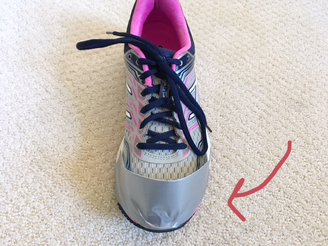How to Duct Tape Running Sneakers - Running in the Rain
