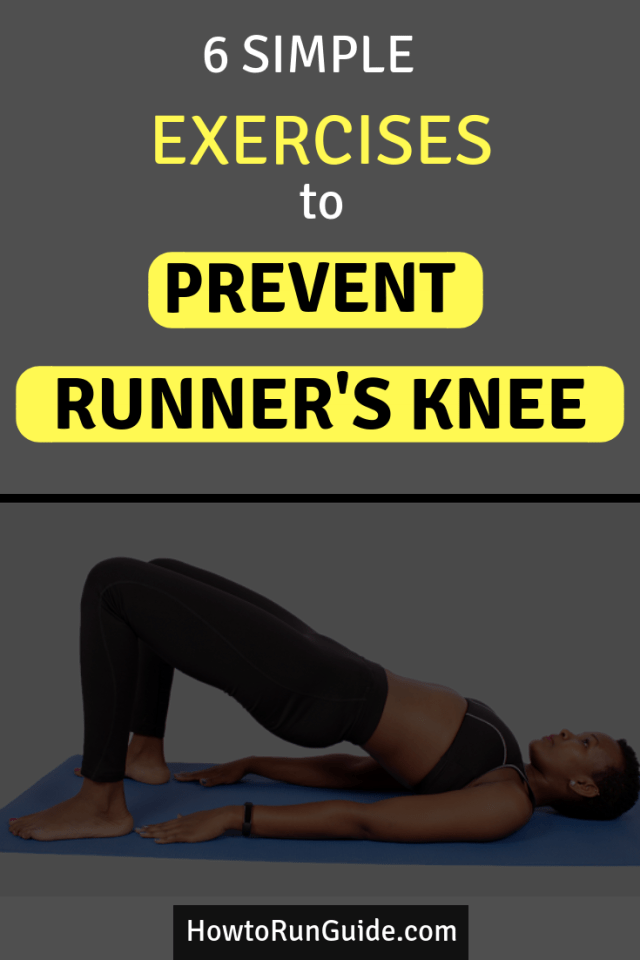 Prevent runner's knee from coming back with these simple body weight exercises to strengthen weak muscles that cause knee pain. #running #runningtips #strengthexercises