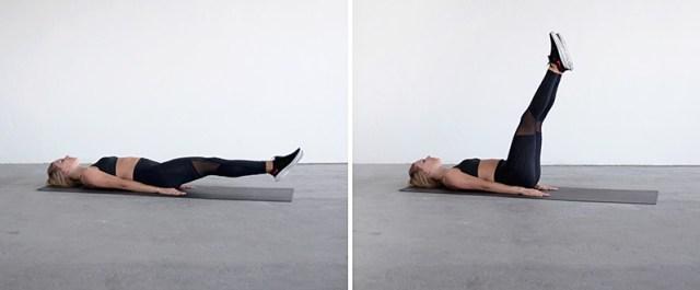 Abs Workout Routine - Lying Leg Raises