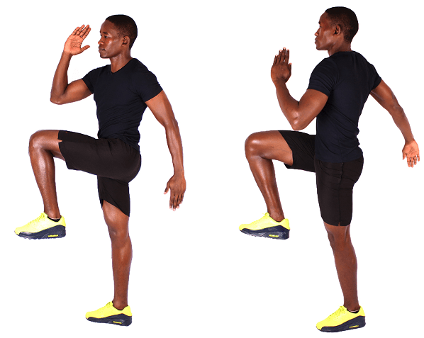 Quick Bodyweight Exercises - Knee Highs