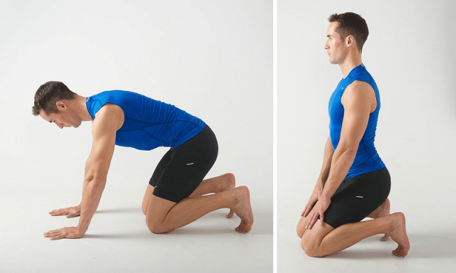 Plantar Fasciitis Stretches for Runners - Kneeling Sole Stretch Movement