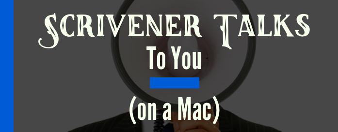 Scrivener Reads My Writing on a Mac