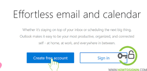 free Hotmail account sign up page