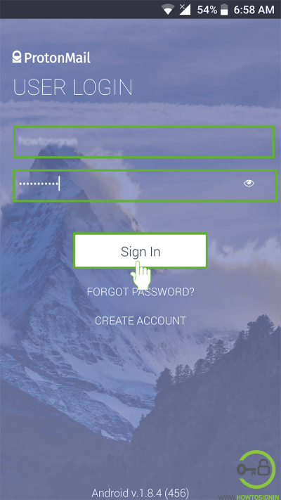 protonmail mobile sign in