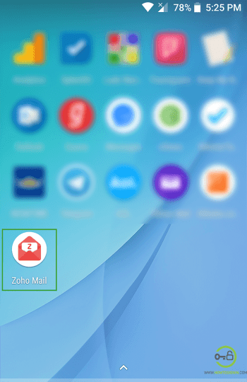 Zohomail Mobile app