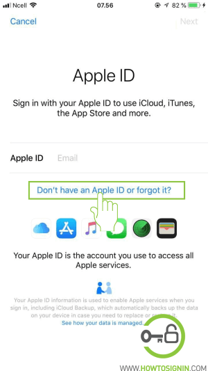 Don't have an apple id