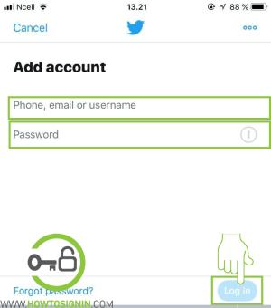 add new twitter account