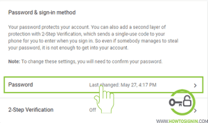 Gmail password from web