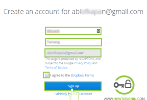 change your details before sign up