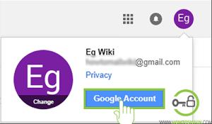 Gmail password change