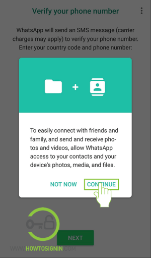 create whatsapp account