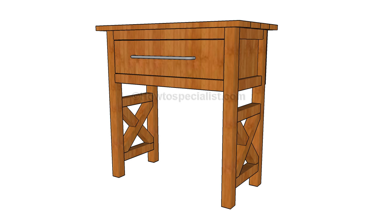 Bedside Table Plans Howtospecialist How To Build Step