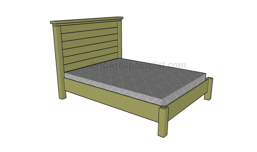 23 Beautiful Bed Frame Blueprints House Plans 16869