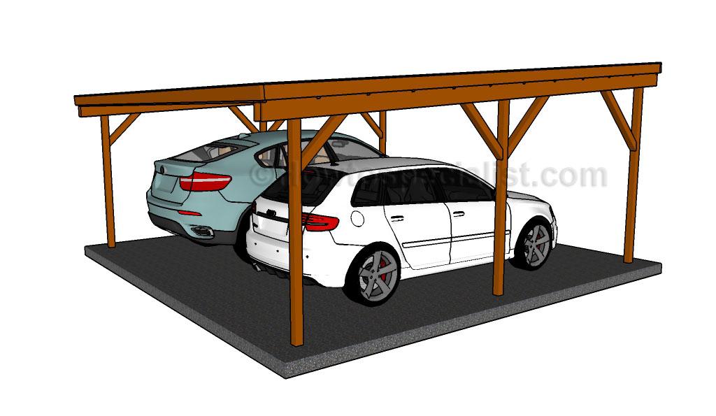 Flat Roof Double Carport Plans Pdf Download