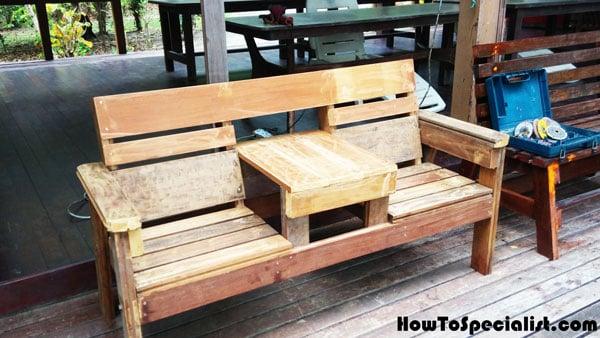 Tremendous Diy Bench Chairs Diy Double Chair Bench Howtospecialist How Lamtechconsult Wood Chair Design Ideas Lamtechconsultcom
