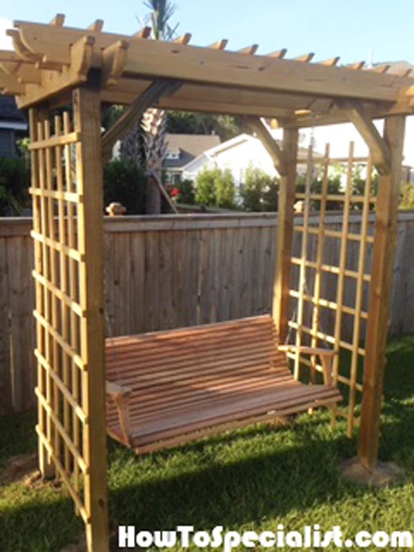 Diy Arbor Swing Howtospecialist How To Build Step By