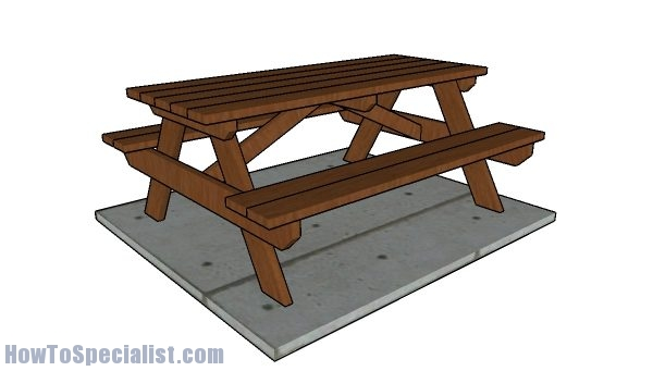 6 Picnic Table Plans Howtospecialist How To Build