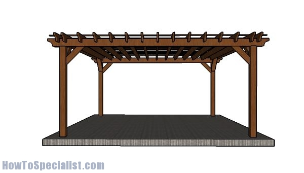 16x16 Pergola Plans Step By Step Howtospecialist How