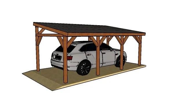 Single Car Lean To Carport Free DIY Plans