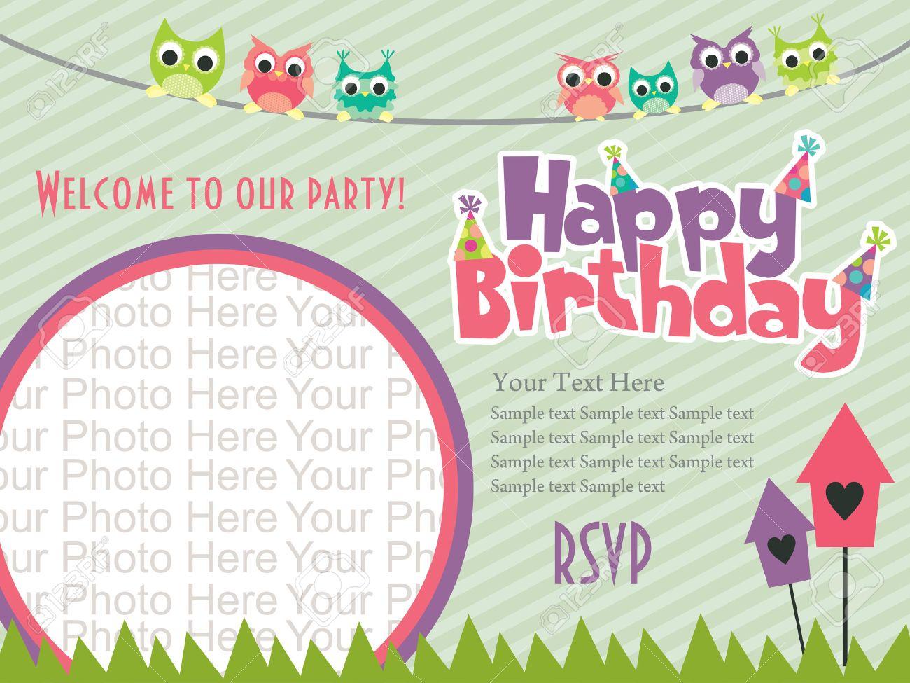 birthday invitation cards card design