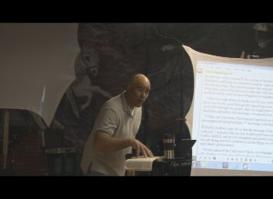 Alan Ballou teaching.