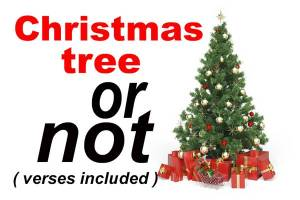 Christmas tree or not (verses included)