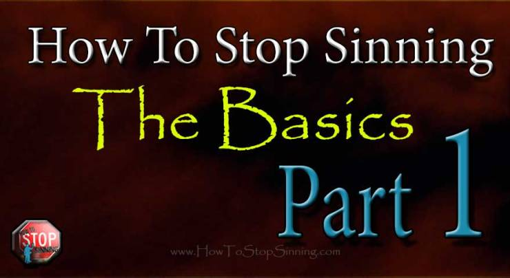 How To Stop Sinning the basics