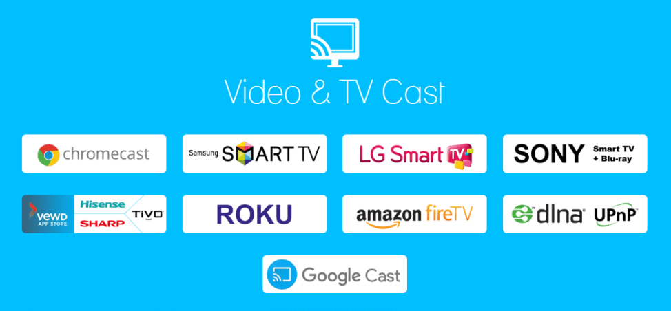 VideoCast Supporting Apps