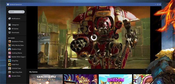 Facebook Gameroom games download