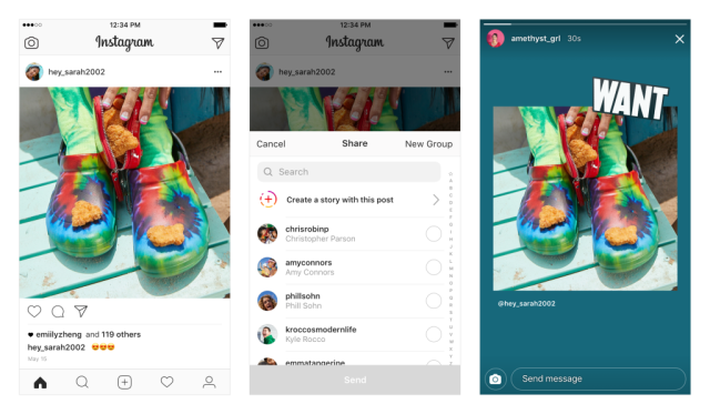 add posts to stories on Instagram
