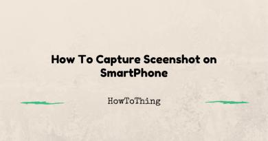 How To Capture Screenshot on SmartPhone-