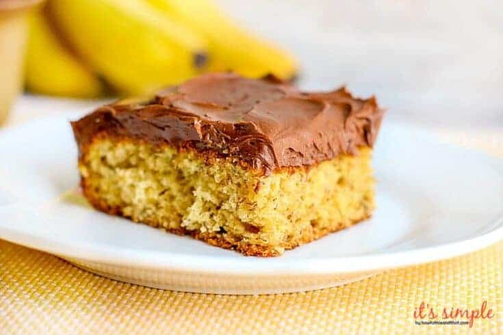 Chocolate Frosted Banana Cake