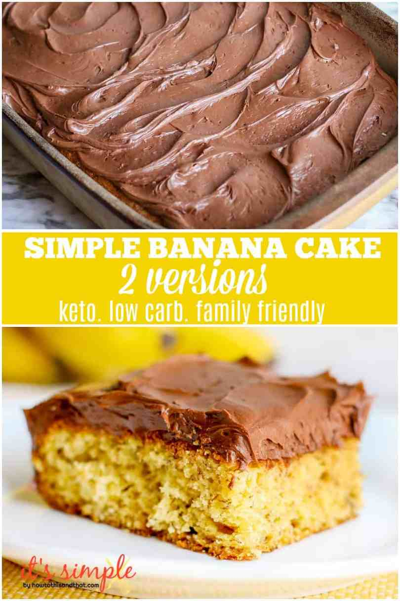 keto banana cake