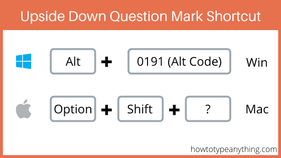 upside down question mark shortcut