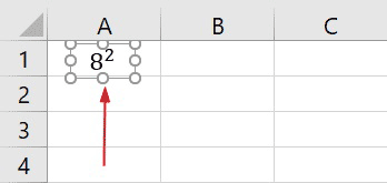 typing exponents in Excel