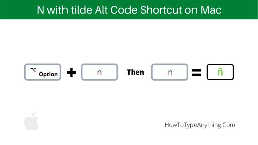 n with tilde alt code for Mac