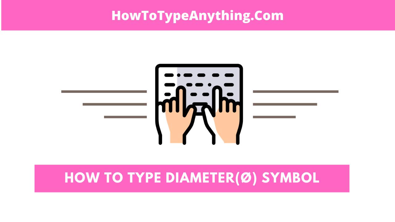 How to type diameter symbol in Word or Excel