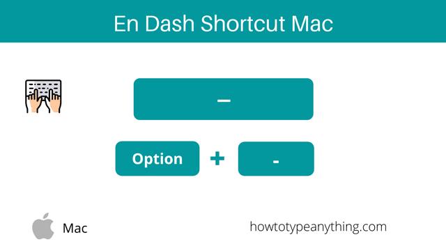 En dash shortcut on Mac