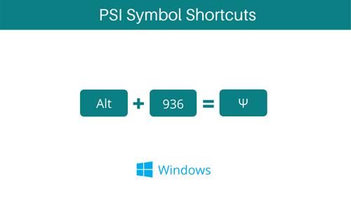 PSI Symbol shortcut