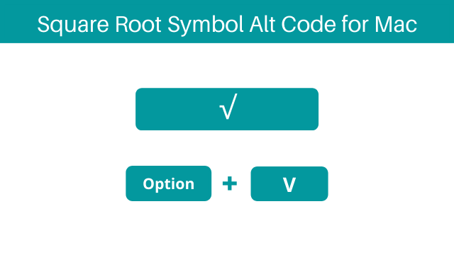 square root alt code for Mac