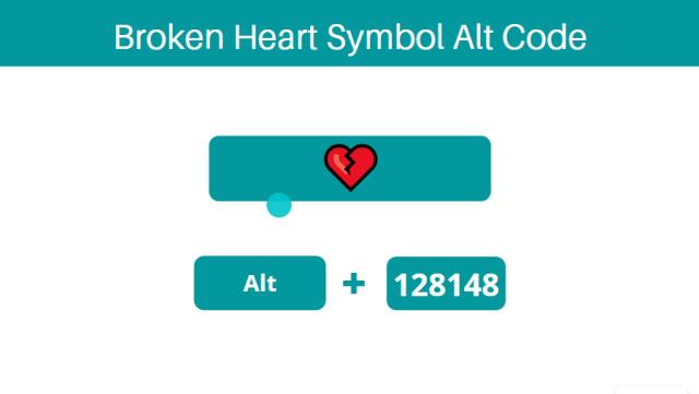 Broken heart symbol shortcut on Keyboard