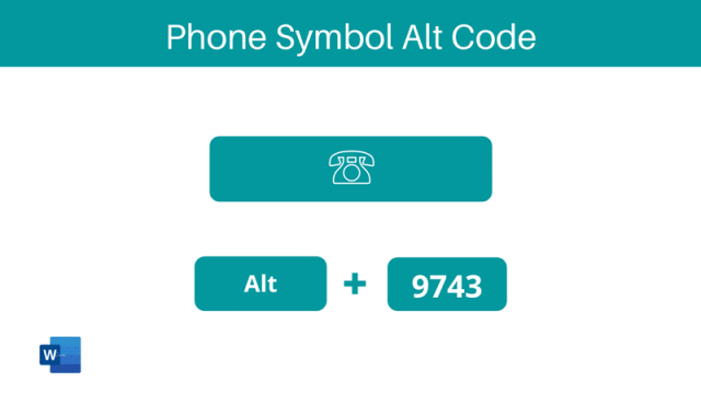 Phone symbol alt code shortcut