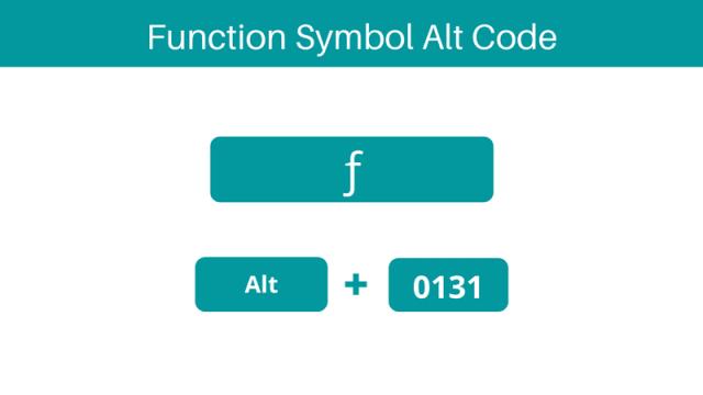 Function symbol alt code