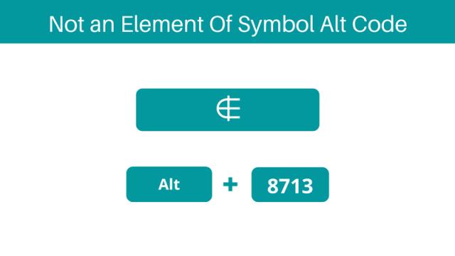 symbol for Element of Alt Code shortcut on keyboard