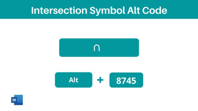 Intersection Symbol Alt Code shortcut