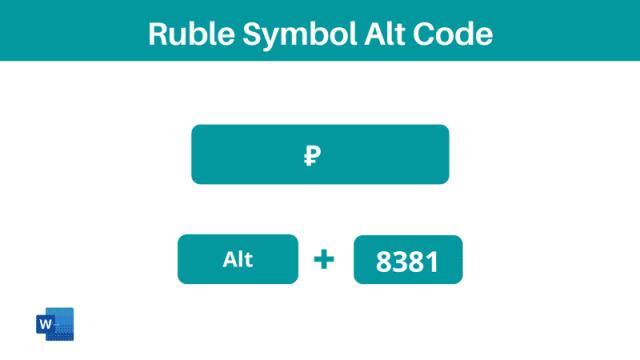 Ruble Symbol alt code shortcut