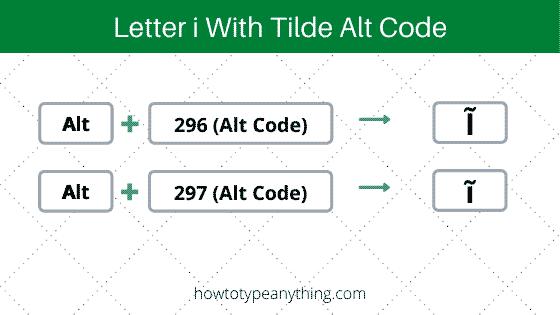 typing letter i with tilde alt code