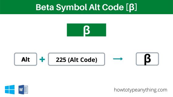 beta alt code shortcut